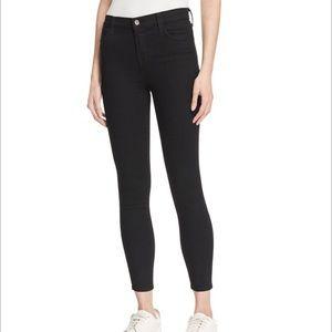 J Brand Alana high rise black skinny jean